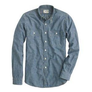 J.Crew Workwear Chambray Jean Denim Shirt 84018
